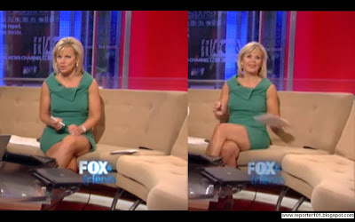 Gretchen Carlson also in GREEN dress caps/pictures/photos @ Fox News.