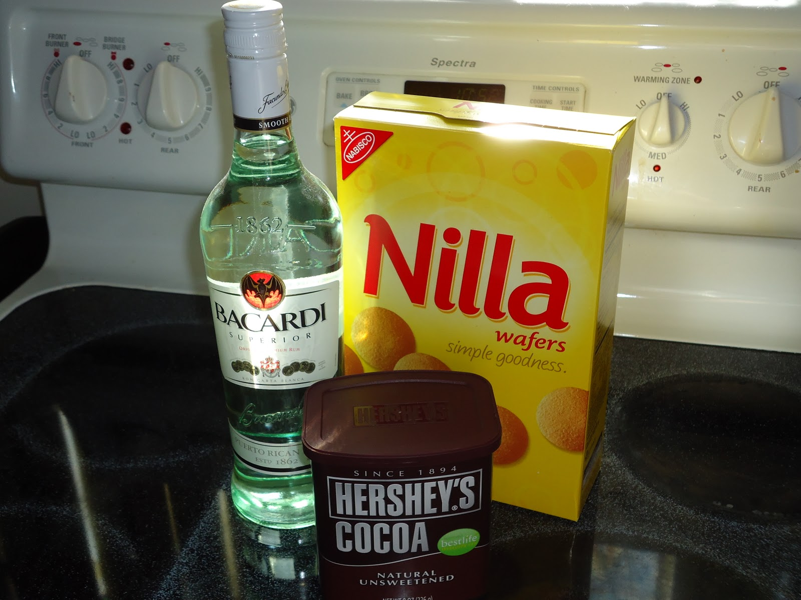 ... help of Bacardi Light Rum, Hershey's baking Cocoa and Nilla Wafers