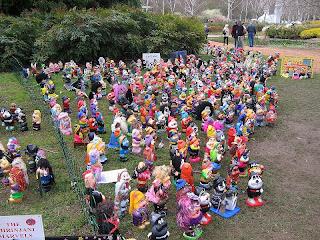 Follow the Piper Garden Gnomes