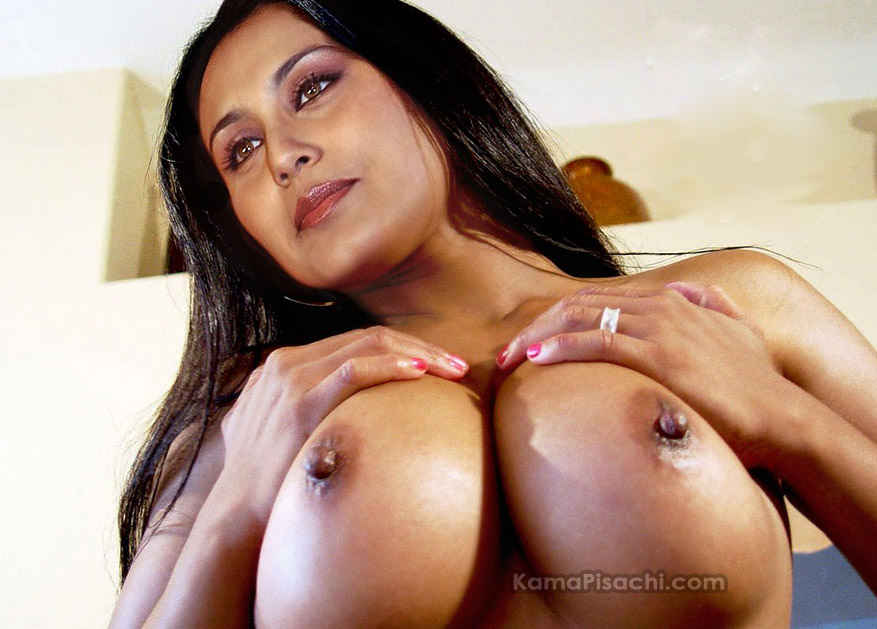 Rani Mukherjee Nude pressing her big breasts