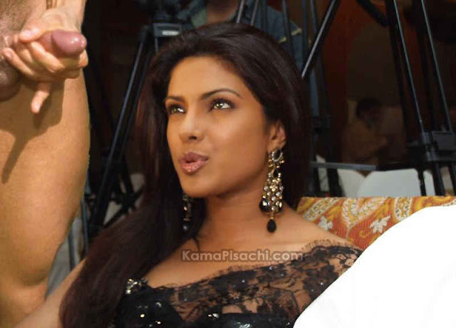 Hot Bollywood actress Priyanka Chopra forced to suck cock