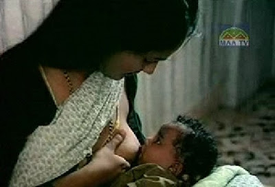 Hot Telugu Aunty Breastfeeding Video