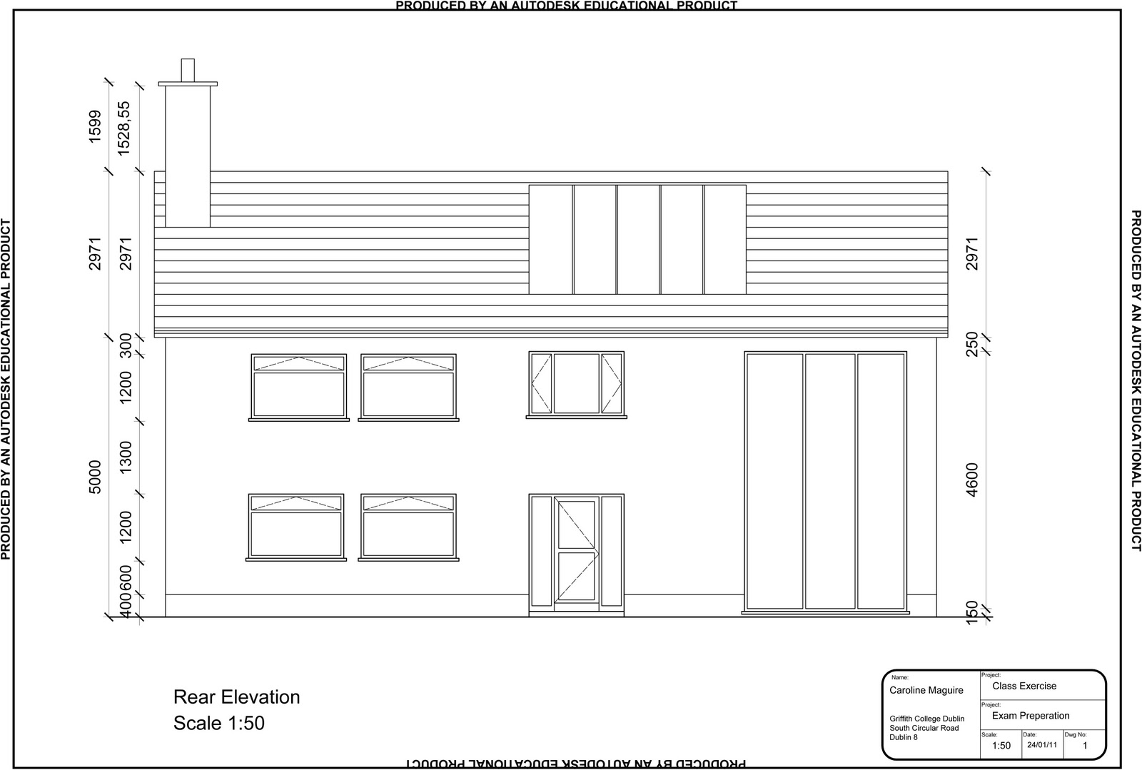 Caroline maguire designs cad for What is rear elevation