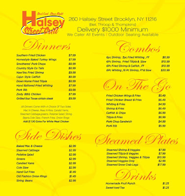 Halsey street grill soul food and seafood what are your for Bed stuy fish fry nostrand ave