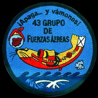 Parche bordado del 43 Grupo de Fuerzas Aereas