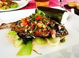 Grilled Fish with Basil and Tomato Sambal (Ikan Bakar Colo-Colo)