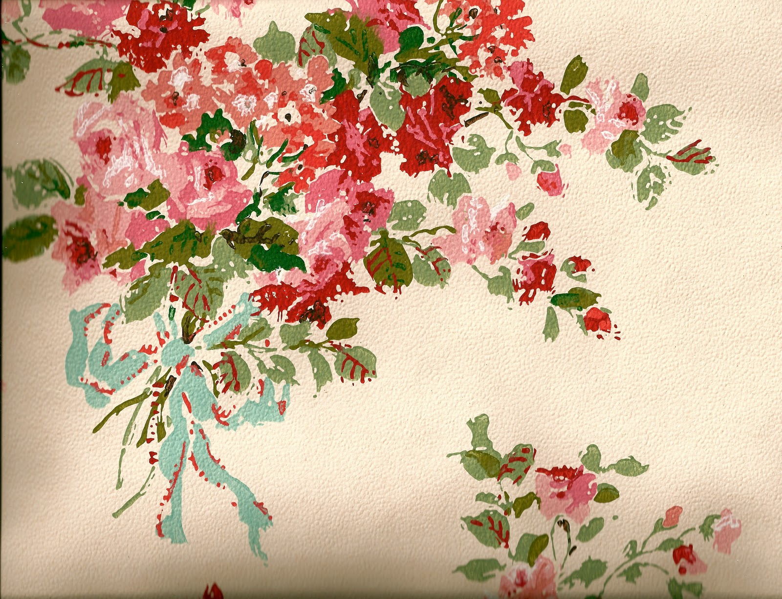 Shabby Chic Vintage Floral Wallpaper high resolution (1600 x 1227 )