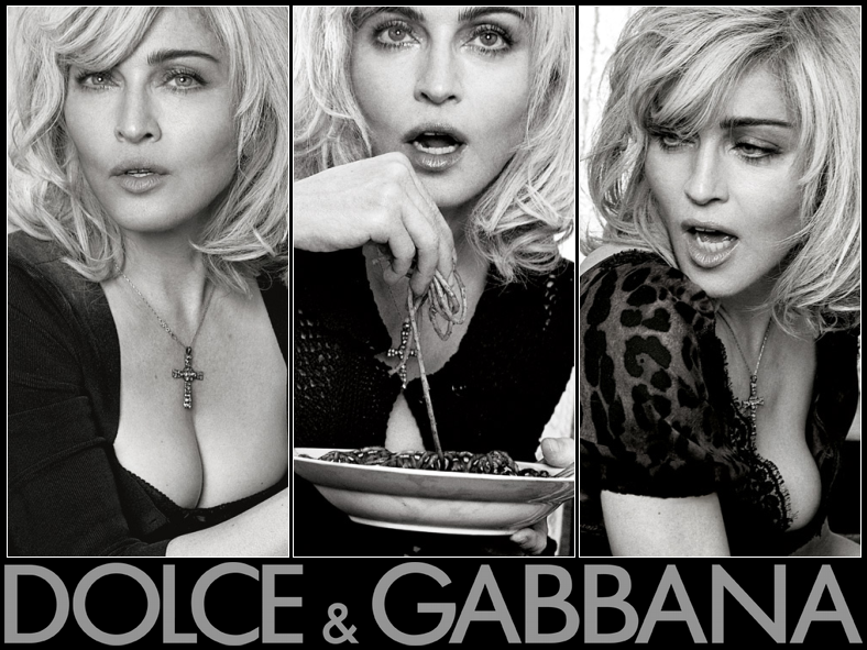 Madonna Dolce Gabbana Ad. with Dolce and Gabbana