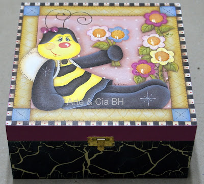artesanato decoupage abelha madeira mdf