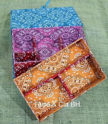 artesanato caixa tecido mdf madeira