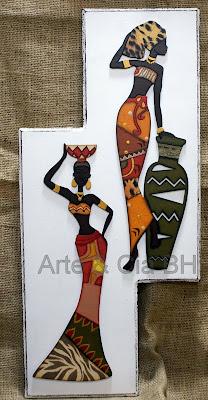 artesanato africana pintura madeira mdf