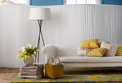 Stylish livingroom Decoration with Yellow and White