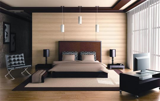 Bedroom Warm Interior Design Ideas