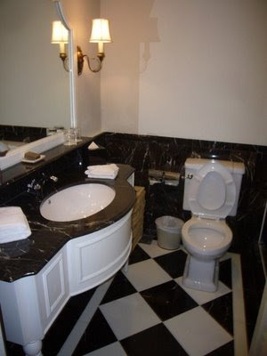 black and white tile bathroom. Black and white bathroom by