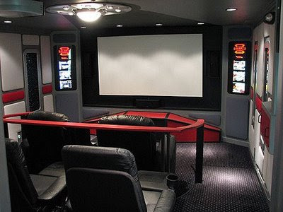 Tech Home Theater Room Design, startrek home theater