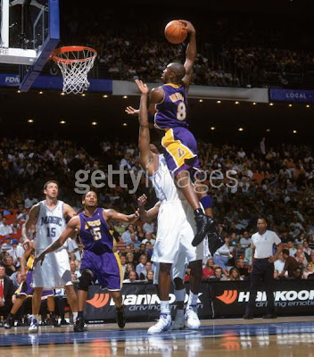 kobe bryant dunks on dwight howard. the boards, Mister Howard.