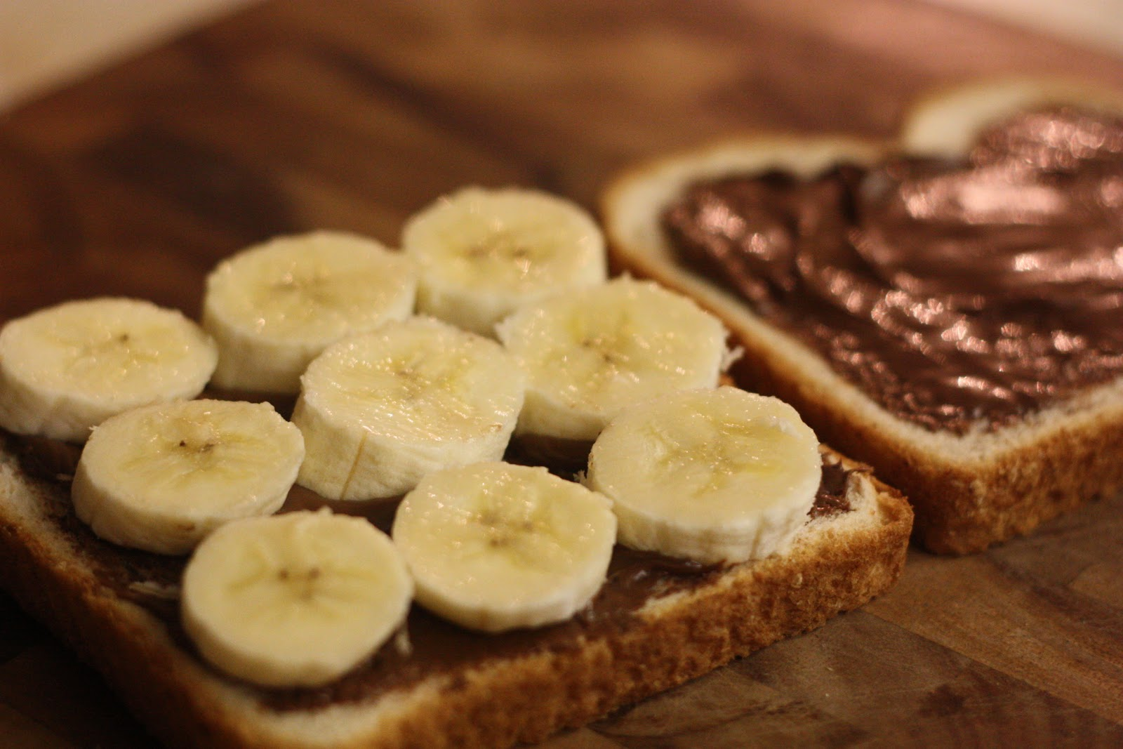 ... nutella banana marshmallow creme panino roasted banana nutella