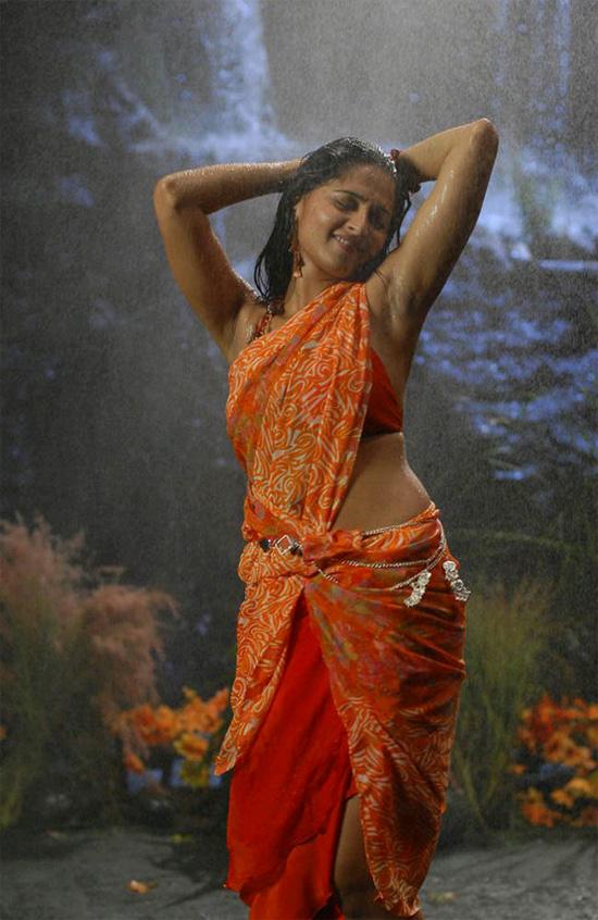 Anushka in Wet Saree