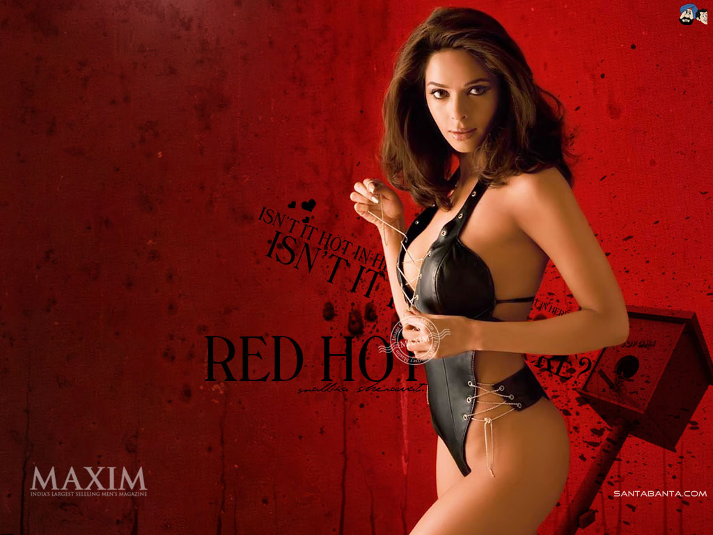 Mallika Sherawat Red Hot Maxim photo Shoot