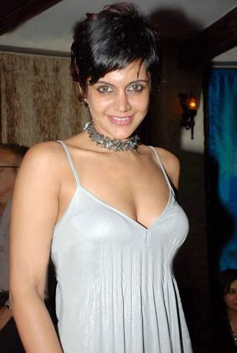 Indian tv actress Mandira bedi in Silver Transparent Top