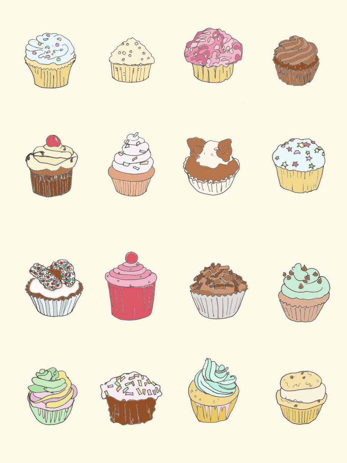 Cupcake Drawing Images : Carole Japp: Cupcakes