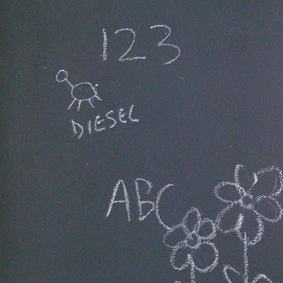 Magnetic Chalkboard Wall & Growth Chart 4 via lilblueboo.com