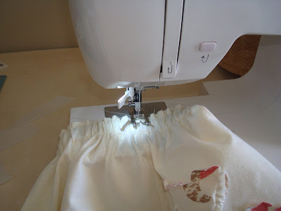 Recycle your t-shirt into a toddler skirt (tutorial) step 12 via lilblueboo.com