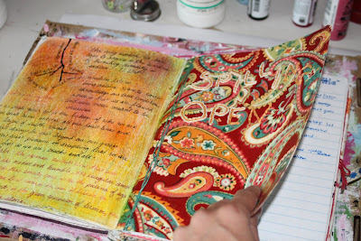 Making a Composition Book Art into a Journal 23 (Tutorial) via lilblueboo.com
