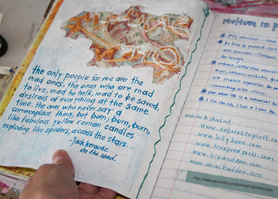 Making a Composition Book Art into a Journal 24 (Tutorial) via lilblueboo.com