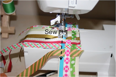 Scrap Ribbon Belt (A Tutorial) step 7 via lilblueboo.com
