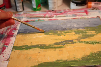 How to Fake a Landscape Painting (A Tutorial) step 7 via lillbueboo.com