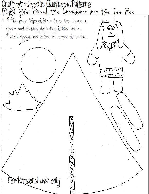 Accomplished image with printable quiet book templates