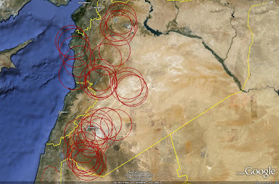 Imint analysis syrian strategic sam deployment the following image depicts the coverage provided by syrias s 75 sites gumiabroncs Gallery