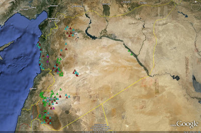 Imint analysis syrian strategic sam deployment sam sites inside of syria the following image depicts the locations of these sites s 75 sites are red s 125 sites are blue s 200 sites are purple gumiabroncs Gallery
