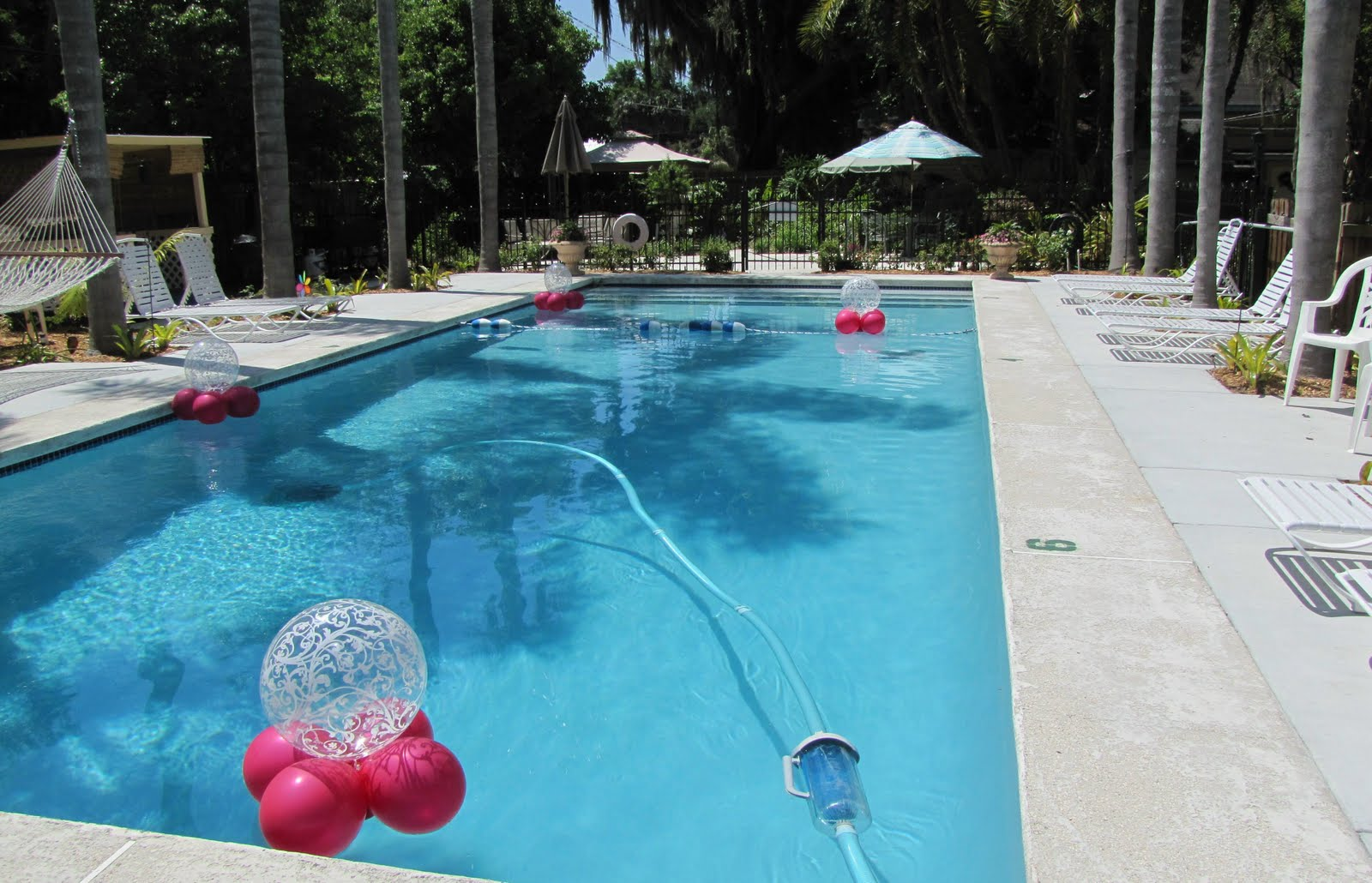 Party people event decorating company stanford inn bridal for Outdoor pool decorating ideas