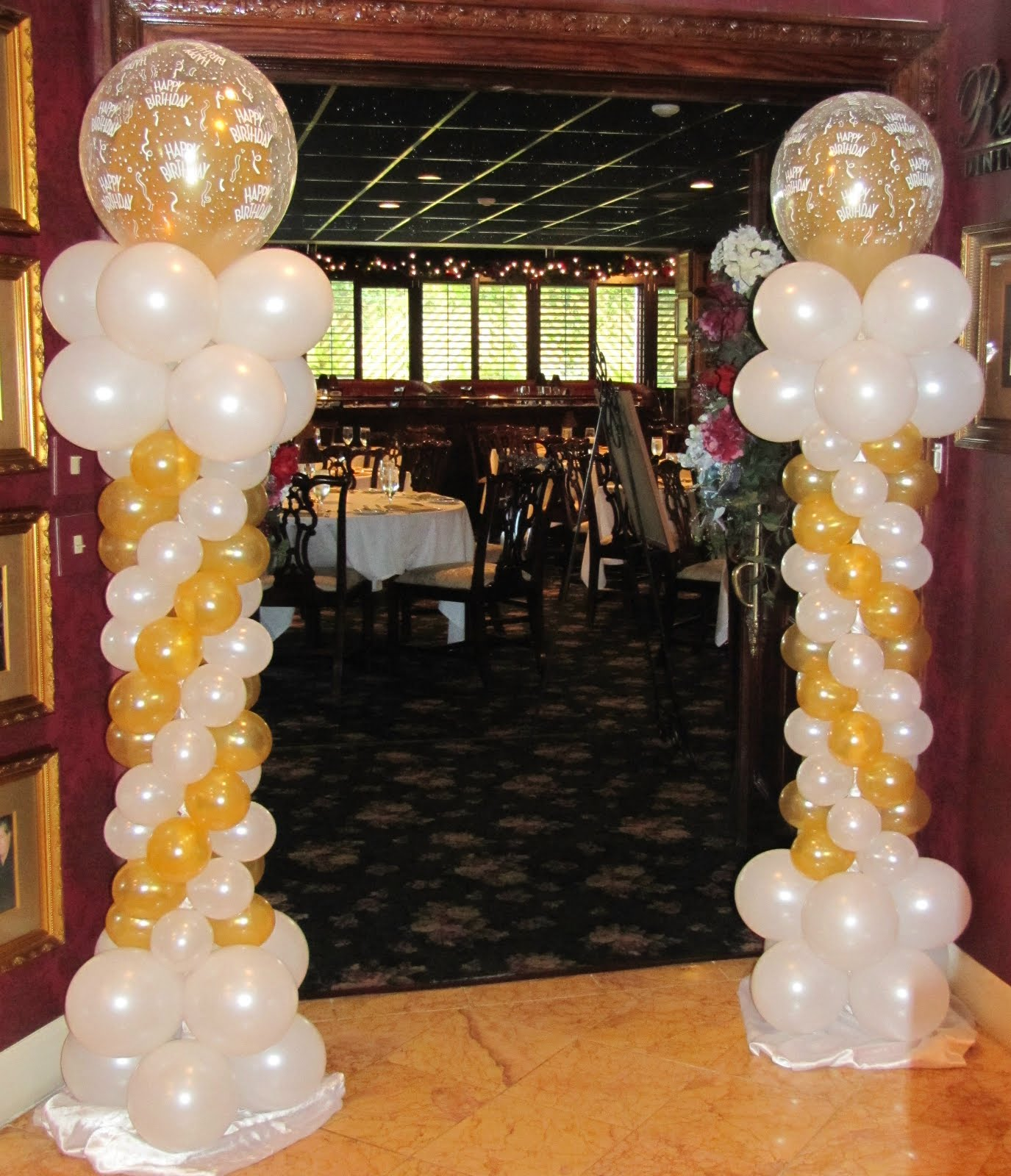 Party people event decorating company 50th birthday for Balloon decoration ideas for birthday party