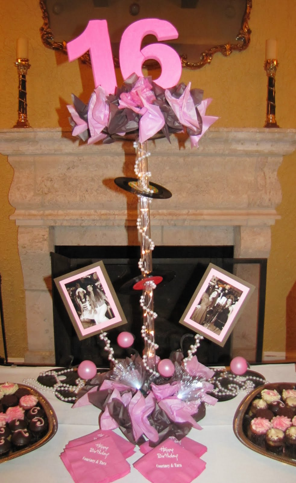 Sweet 16 Table Decorations Pictures Photograph Custom Cupc