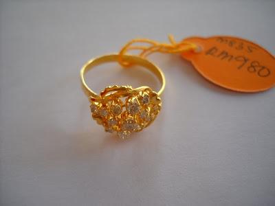 Cincin Berlian Emas Mutu 835