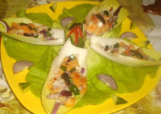 Articole culinare : Andive cu somon