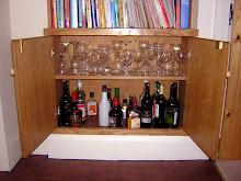 drinks cupboard with adjustable shelf