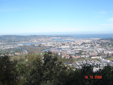 Baha de Txingudi, desde el monte San Marcial de Irn