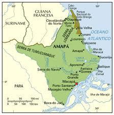 Mapa do Estado do Amapá