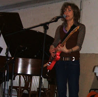 Viv Albertine at Cafe Oto; photo by Val Phoenix
