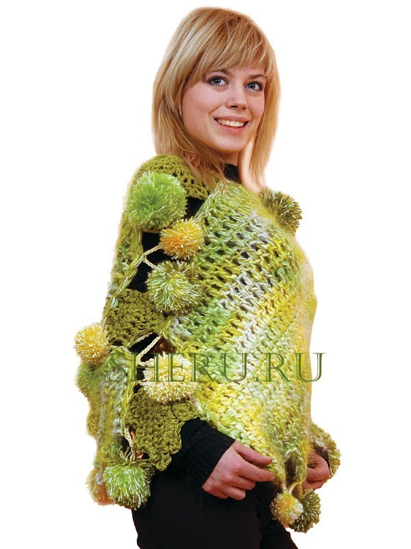 Вязание пончо.