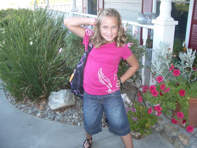 Alyssa on the 1st day of school
