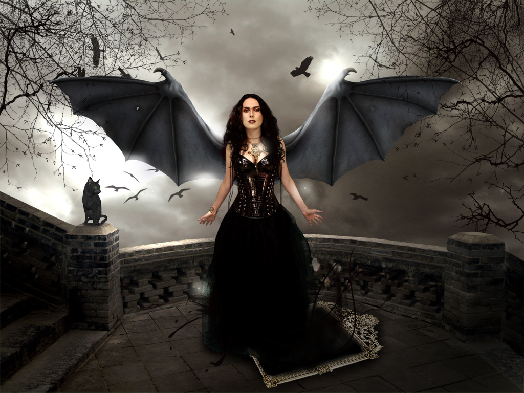 Wallpapers zone angel 39 s and devil 39 s - Gothic angel wallpaper ...