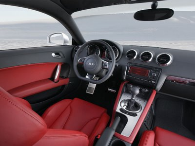 2008 Audi TT Coupe red interior wallpaper