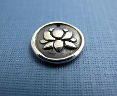 silver lotus blossom charm necklace jewelry bracelet