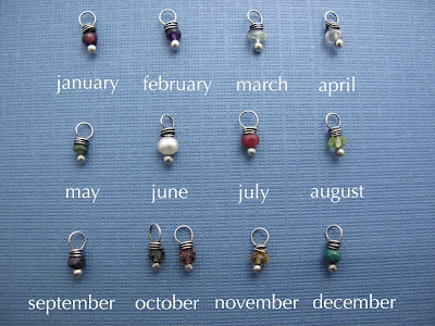 birthstone gemstone chart jewelry charm necklace