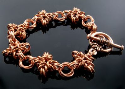 copper chain mail bracelet kit